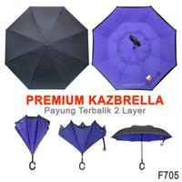 Payung Terbalik Lipat Upside Down Anti Hujan F705 Ungu Purple