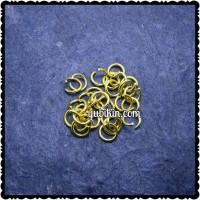 144 Piece Jump Ring Tebal Besi 8mm Emas Kuning Untuk Gantungan Kunci