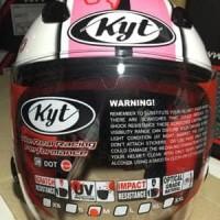 New Helm KYT Dj Maru / DJmaru white pink