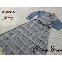 baju gamis aqella grey