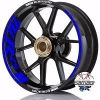 Stiker Velg Sticker Decal Motor YZF R25 Yamaha Racing Factory warna