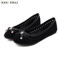 Sunny Girls ORIGINAL Sepatu Flat Wanita Ribbon Kepang 1901