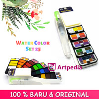 Superior Watercolor Cake Set 25 / Watercolor 25 Warna / Cat Air