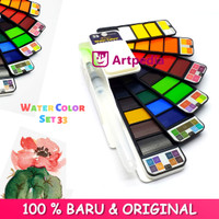 Superior Watercolor Cake Set 33 / Watercolor 33 Warna / Cat Air
