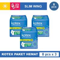 3 PACK KOTEX SLIM WING ISI 8