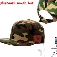 Handsfree Headset Earphone Bluetooth Topi Music HAT