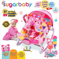 Sugar Baby Bouncer 10in1 Kursi Bayi/ Premium Baby Rocker - Lola Kitten
