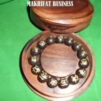 Jual Produk Baru Gelang Karomah kayu eboni lafal Allah Muhammad 15 mm