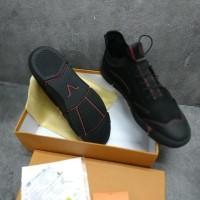 TERLARIS Sepatu pria louis vuitton kulit asli sneakers grade original