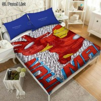 Selimut Panel List Anak Karakter Super Hero - Ukuran 150x200