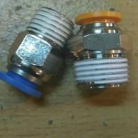 1/4 x 6mm Fitting lurus pneumatic selang