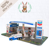 Daron Chevron Gas Station Playset Play Set Mainan Anak High Quality