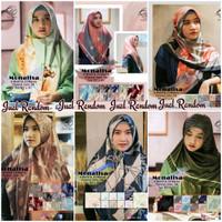 Jilbab Satin Silk Motif YAMATO MONALISA - seri : RANDOM