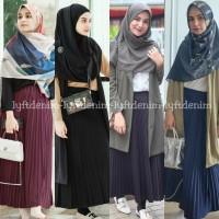 Rok Plisket Premium Quality / Rok Rempel Panjang / Rok hijab -14 warna