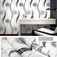 6305 Gelombang Black White Wallpaper 10M x 45Cm