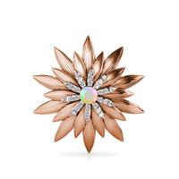Shiny Lotus Brooch - Bross Crystal Swarovski by Her Jewellery