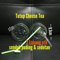 Lid tutup cheese tea cup/tutup cheese tea pet bening