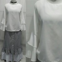 Baju wanita muslim hijab stelan blus rok