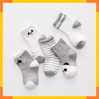 PROMO Baby Socks Kaos Kaki Bayi set of 5 size newborn, Pastel Blue