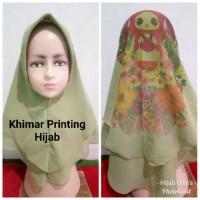Jilbab Anak Cerruty Khimar 2 Layer Printing Hijab