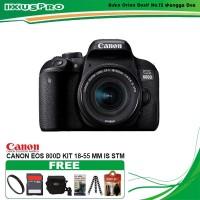 CANON EOS 800D KIT 18-55MM IS STM PAKET KOMPLIT 16 GB