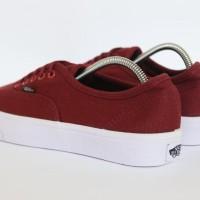 Paling Populer Sepatu Vans Authentic Mono Marun / Merah Maroon Waffle