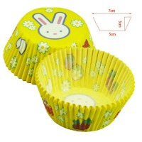 Promo Sale White Rabbit's Chocolate Cake Cup Cake Paper Cups In Bluk