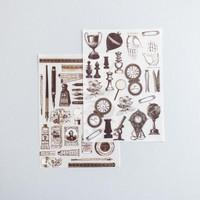 Rub On Sticker: Caligraphy