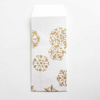 Gold Flowers Envelope