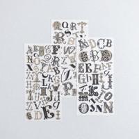Rub On Sticker: Alphabet Initials