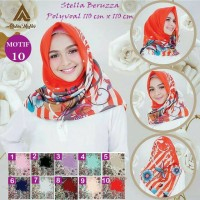 Jilbab Segiempat Stella Beruzza Polyvoal Motif 10 By Adabia Mufler