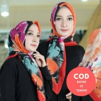 KIRIM RANDOM - Floral Hijab Segi Empat