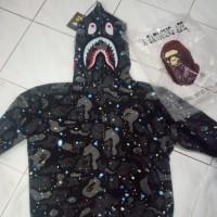 ff9e5b40 bape hoodie shark space camo glow in the dark