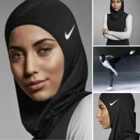 Hijab Sport / Jilbab Instan Renang / Kerudung Olahraga - Hitam