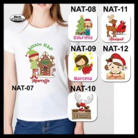 F5Kyo5 New Baju / Kaos Dewasa Wanita Tema Natal - Putih, Size Xl