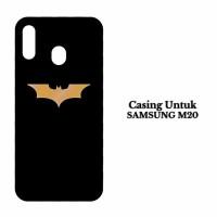 Custom Case Samsung M20 batman logo gold Casing Hardcase Cover