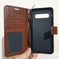 Samsung S10 Flip wallet leather