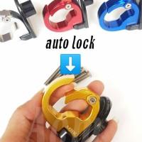 gantungan barang C model blackdiamond auto lock universal