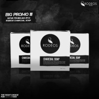 [ PROMO 3 PCS ] SABUN RODEOS CHARCOAL SOAP FOR MEN - ORIGINAL 100%