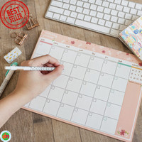 Planner Bulanan Floral Theme Monthly Plan Memopad Bagus