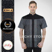 Harga terbaru fashion kemeja baju koko pria muslim dewasa tangan | antitipu.com