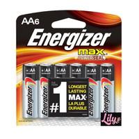 1 Dus (isi 10 pack) Baterai Energizer MAX Alkaline AA 6 Pcs / Pack