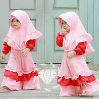 Milova Kid/Gamis Moscrepe/Gamis Anak/Gamis Batita/Baju Muslim Anak