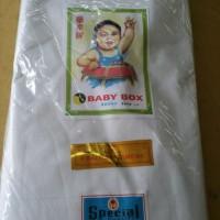 BAHAN BELACU BABY PUTIH / KAIN BLACU TIPIS MERK BABYBOX (Per Roll)