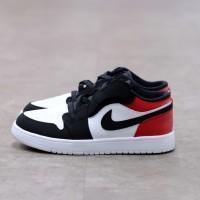 ( Pre-School ) Nike Air Jordan 1 Low Black Toe 100% Authentic