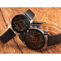 [COD] Jam Tangan kulit Triangel Fashion Wanita dan Pria Casual