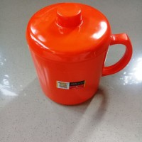Gelas Gagang Tutup Jumbo 600ml Orange Melamine - Golden Dragon B0204