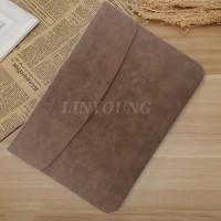 Sleeve Case Cover Tas Laptop Bahan Kulit untuk Apple MacBook Air Pro 1