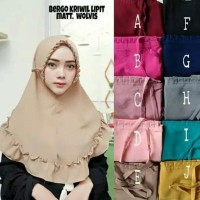 Dijual Hijab Instan Khimar / Jilbab Instant / Kerudung Kriwil Lipit