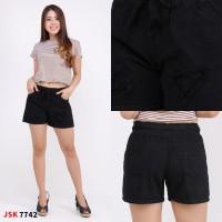 Celana Wanita 2/3//Hotpants Pinggang Karet 2/3 Distroy All Size JSK